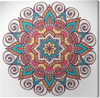 Mandala in ethnic style Canvas Print