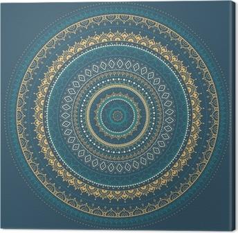 Mandala. Indian decorative pattern. Canvas Print