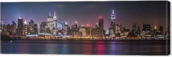Manhattan Panorama during the Pride Weekend Canvas Print