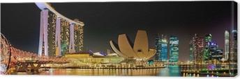 Marina Bay Singapore panorama Canvas Print