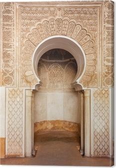 Marrakech madrasah ornament Canvas Print