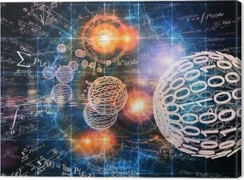 Mathematics Backdrop Canvas Print