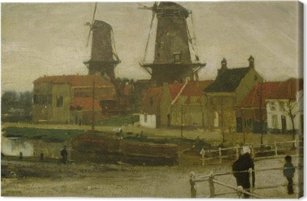 Matthijs Maris - A Corner of the Hague Canvas Print - Reproductions