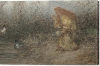 Matthijs Maris - Fairy Tale Canvas Print