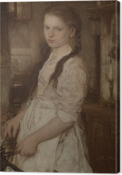Matthijs Maris - The Young Cook Canvas Print - Reproductions