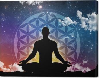 Meditation night Canvas Print