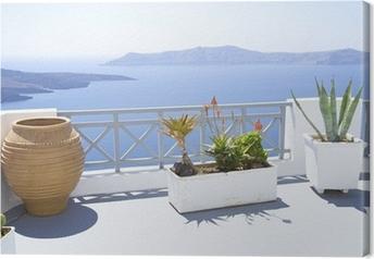 Mediterranean terrace Canvas Print