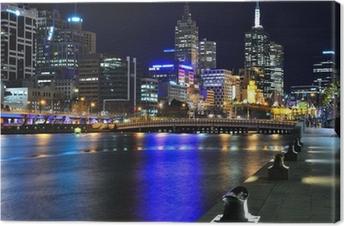 Melbourne mit Skyline und Yarra River Canvas Print