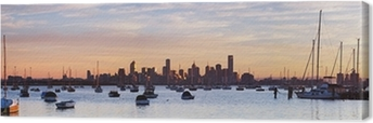 Melbourne Panorama Canvas Print
