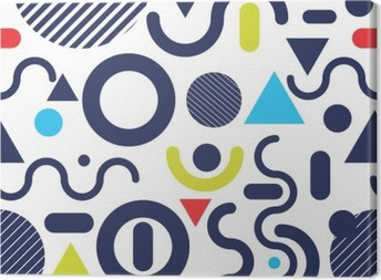 Memphis fashion style modern pattern color background Canvas Print