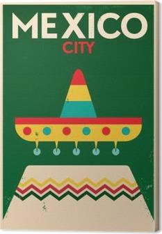 Mexico Vintage Poster Design Canvas Print