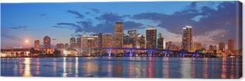 Miami night scene Canvas Print