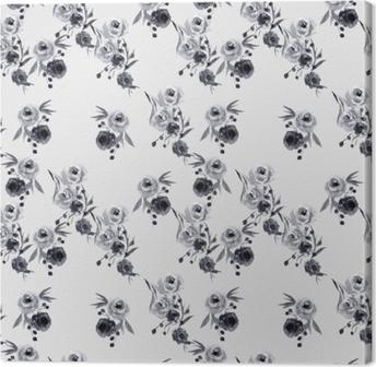 Minimalist floral pattern - Nina Ho Canvas Print