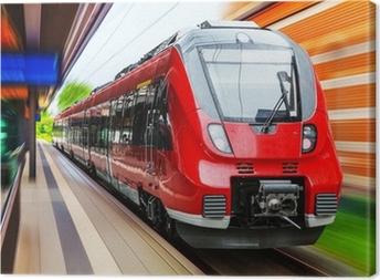 Modern high speed train Canvas Print