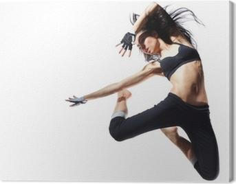 modern style dancer Canvas Print