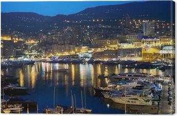 Monaco at night Canvas Print