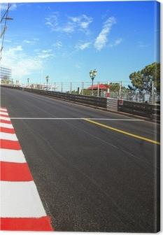 Monaco, Monte Carlo. Race asphalt, Grand Prix circuit Canvas Print