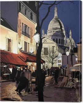 Montmartre in winter Canvas Print