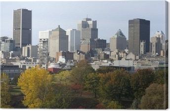 Montreal skyline in autumn, Canada Canvas Print