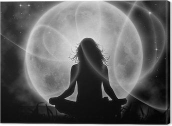 Moon meditation Canvas Print