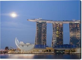 Moon over Marina Bay Sands Canvas Print