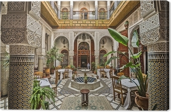 Moroccan Interior Canvas Print