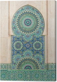 moroccan vintage tile background Canvas Print