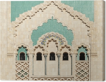 Morocco. Detail of Hassan II Mosque in Casablanca Canvas Print