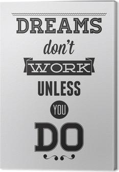 Motivational poster Canvas Print