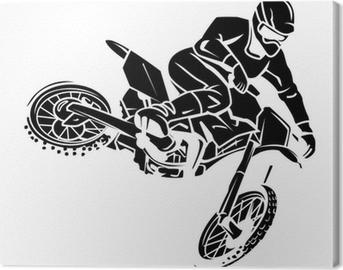 Moto cross rider Canvas Print