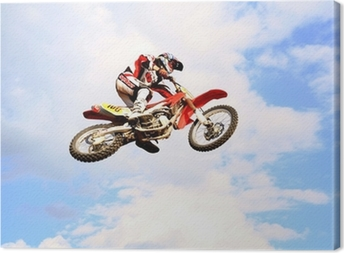 motocross in the sky Canvas Print