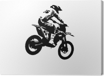 Motocross jumper Canvas Print