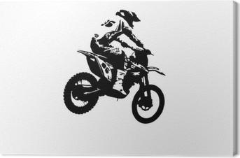 Motocross jumper Canvas Print