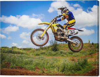 Motocross rider Canvas Print