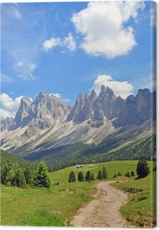Mountain peaks in Alps Canvas Print