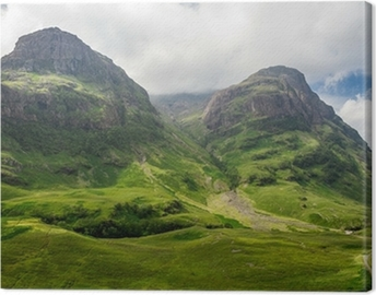 Mountain view in Scotland in the Glencoe Canvas Print