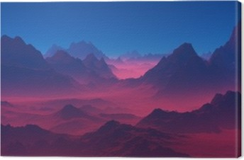 Mountains at sunset. Canvas Print
