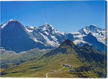 Mounts Eiger, Moench and Jungfrau Canvas Print