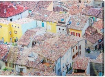 Moustiers-Sainte-Marie, France, Provence. Canvas Print