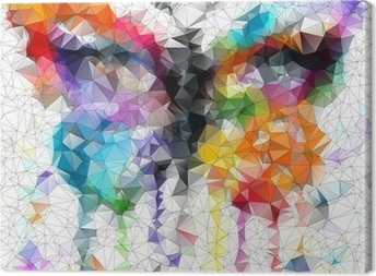multicolor bright butterfly abstract geometric background Canvas Print