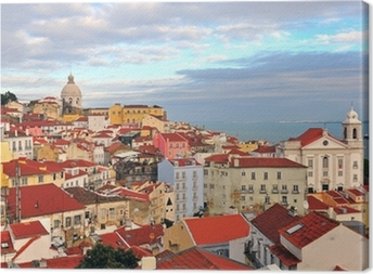 Multicolor houses of Lisbon Canvas Print