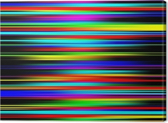 Multicolored vibrant abstract graduated stripes pattern. Canvas Print