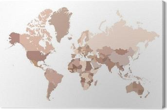 Multicolored world map vector illustration canvas print pixers multicolored world map vector illustration canvas print gumiabroncs Image collections
