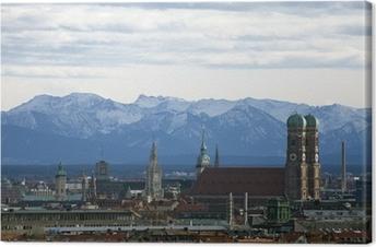 München Panorama Canvas Print