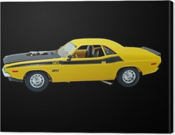 Muscle car Canvas Print