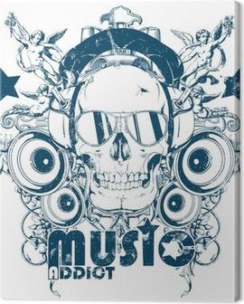 Music addict Canvas Print