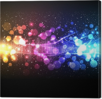 music equalizer wave Canvas Print