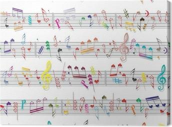 Music note sound texture Canvas Print