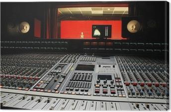music studio Canvas Print