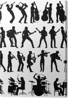 Musicians vector silhouettes Canvas Print